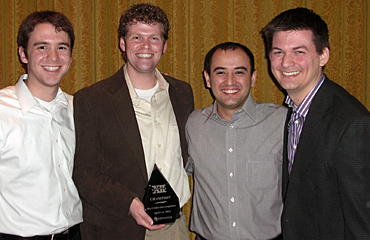 Iowa State's winning Big 12 MBA Case Competition team (L to R): Steve Harris, Dan Hinz, Akmal Mirsadikov, Ryan Kent.